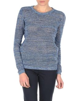 Crew Neck Sweater Women's Sweater In Blue