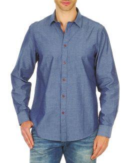 Bema00490 Men's Long Sleeved Shirt In Blue
