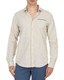 Bema00509 Men's Long Sleeved Shirt In Beige