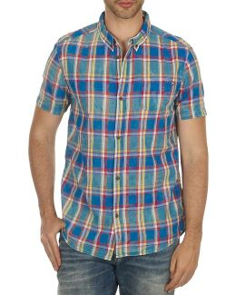 Chinoye Men's Short Sleeved Shirt In Blue
