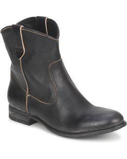 San Manuel Camarra Slavato Women's Mid Boots In Black