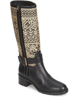 Delia Women's High Boots In Black