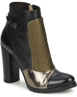 Fedra Women's Low Ankle Boots In Black