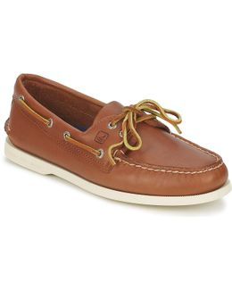 Ao Two Eye Men's Boat Shoes In Brown