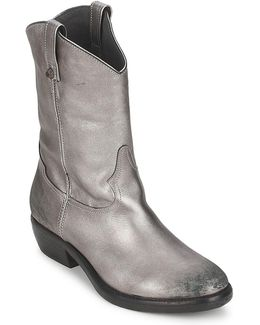 - Women's Mid Boots In Silver