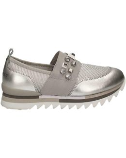 Dly32 Slip-on Women Silver Women's Slip-ons (shoes) In Silver