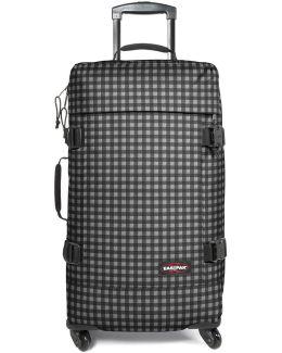 Ek81a30m Trolley Big Accessories Black Men's Hard Suitcase In Black