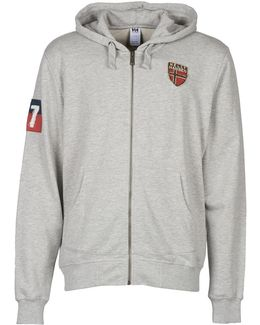 Graphic Fz Hoodie Men's Sweatshirt In Grey