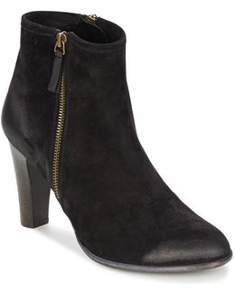 Trisha Sonia Women's Low Ankle Boots In Black