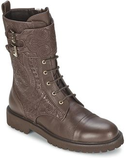 3084 Women's Low Ankle Boots In Brown