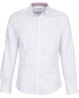 Felini Men's Long Sleeved Shirt In White