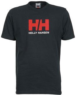 Hh Logo Men's T Shirt In Blue