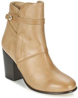 Molly Women's Mid Boots In Beige