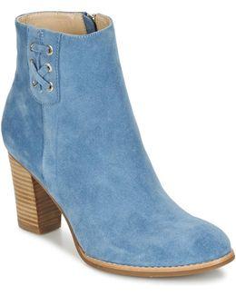 Waelle Women's Low Ankle Boots In Blue