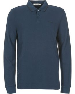 Long Sleeve Romford Men's Polo Shirt In Blue