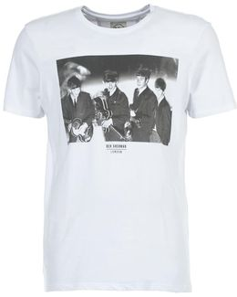 The Beatles Photographic Men's T Shirt In White