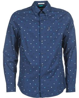 Ls Scattered Record Men's Long Sleeved Shirt In Blue