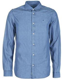 Winley Men's Long Sleeved Shirt In Blue
