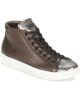Alexa Women's Shoes (high-top Trainers) In Brown