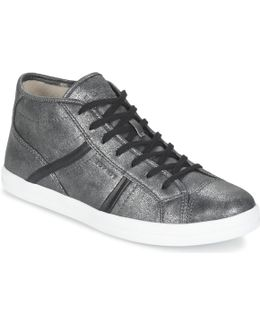 Mega Bootie Women's Shoes (high-top Trainers) In Silver