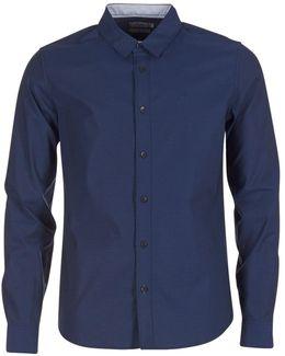 Wilbens 1 Dobby Men's Long Sleeved Shirt In Blue