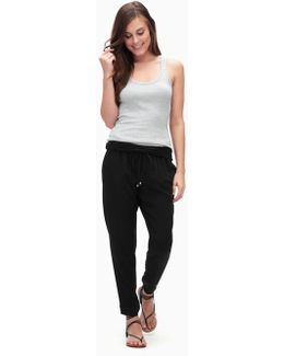 Rayon Voile Mixed Media Pant