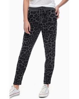 Printed Leopard Jogger
