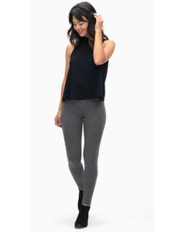 Charcoal French Terry Legging