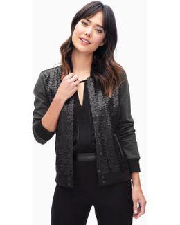Sequin Varsity Jacket