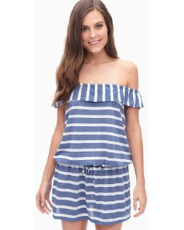 Chambray Cottage Off Shoulder Swim Coverup