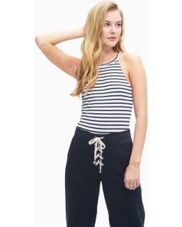 1x1 Venice Stripe Halter Bodysuit