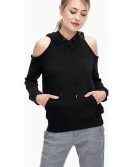 Soft Cotton Cold Shoulder Sweatshirt
