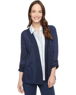 3/4 Sleeve Light Jersey Cardigan