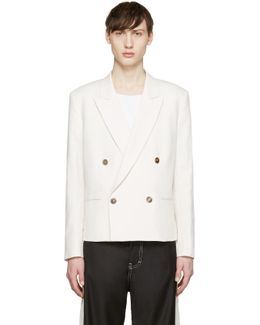 Off-white Double-breasted Blazer