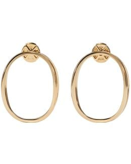Gold Little Ear-clipse Earrings