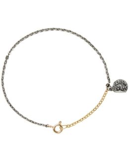 Silver & Gold Plated Pearl Bracelet