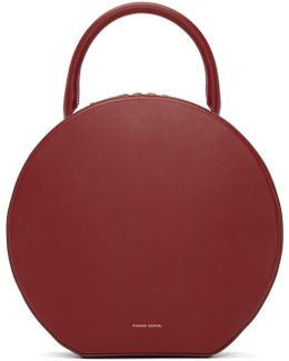 Circle Leather Top-Handle Bag