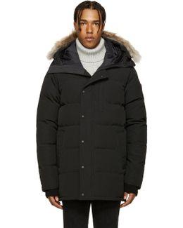 Black Down & Fur Carson Parka