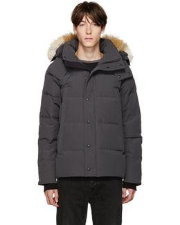Grey Down & Fur Jacket