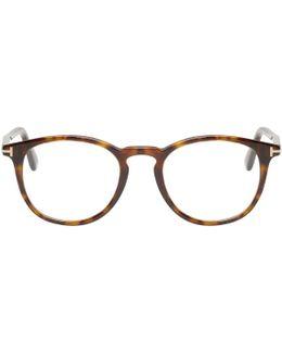 Tortoiseshell Round Ft5401 Glasses