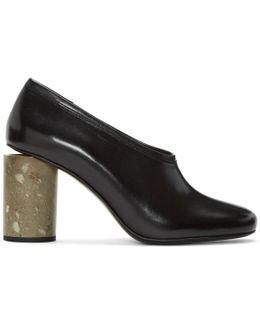 Amy Leather And Marble Pumps