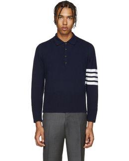 Navy Cashmere Polo