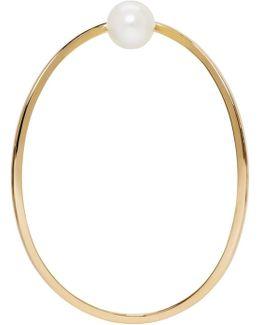 Gold Earclipse Earring