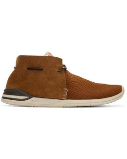 Brown Huron Mesh Moc-folk Sneakers