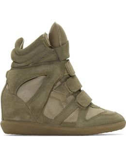 Taupe Suede Bekett Wedge Sneakers