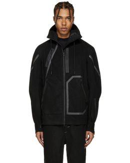Black Wool Hooded Jacket