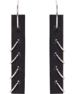 Black Small Pierced Earrings