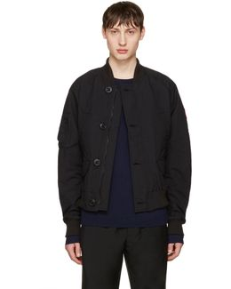 Black Fader Bomber Jacket