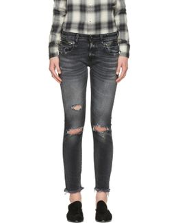 Black Biker Boy Jeans