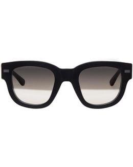Black Frame Metal Sunglasses